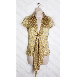 Diane Von Furstenberg Gingko Vespa Silk Top Size 4